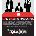 comunicacion evento alicante publicidad cartel encuentro 150x150 I Encuentro de ex alumnos de Publicidad y RR.PP. de la Universidad de Alicante